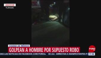 FOTO: Golpean a hombre por supuesto robo en Ciudad de México, 17 febrero 2019