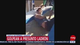 Foto: Golpean a ladrón que asaltó a mujer embarazada en Tuxtla Gutiérrez