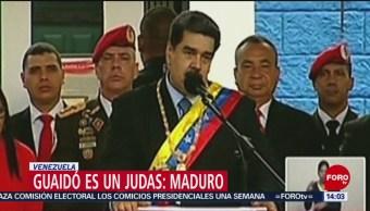 FOTO: Guaidó es un judas: Maduro, 16 febrero 2019