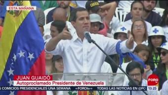 FOTO: Guaidó pide ingreso de ayuda humanitaria en Venezuela, 16 febrero 2019