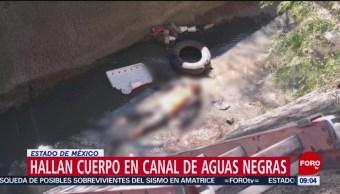 FOTO: Hallan cuerpo en canal de aguas negras en el Estado de México, 3 febrero 2019
