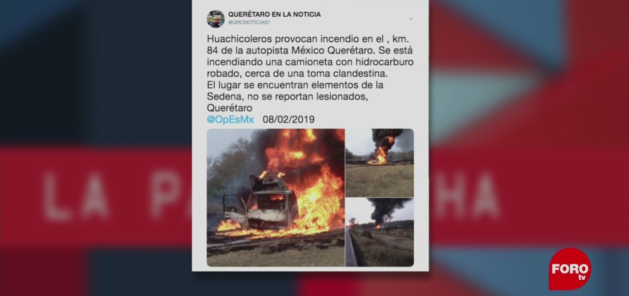 Foto: Huachicol Incendio Paparrucha Del Día 12 de Febrero 2019
