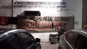 Foto: Huelga en la UAM, febrero 2019. Twitter @marxismomx