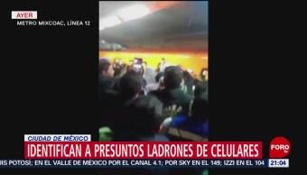 Identifican a presuntos ladrones de celulares en Ciudad de México