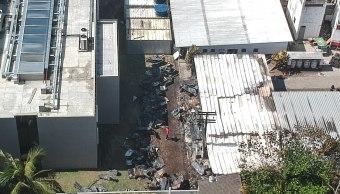 Foto: Vista aérea que muestra los estragos del incendio registrado en el club de fútbol Flamengo, en Río de Janeiro, 9 febrero 2019