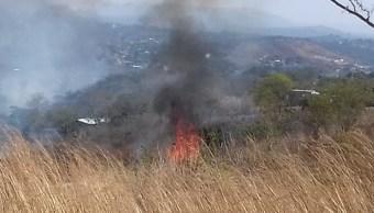 Foto: Incendio forestal en la reserva del Cañon del Sumidero, 18 de febrero 2019. (Juan Álvarez Moreno)