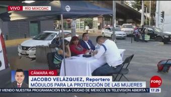 Foto: Instalan módulo de denuncia afuera de la estación Mixcoac del Metro