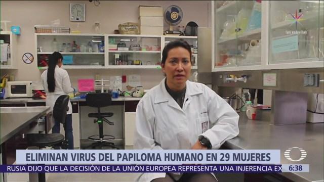 Investigadores IPN eliminan virus del papiloma humano en 29 mujeres