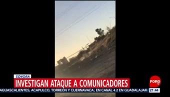 FOTO: Investigan ataque a comunicadores en Sonora, 17 febrero 2019