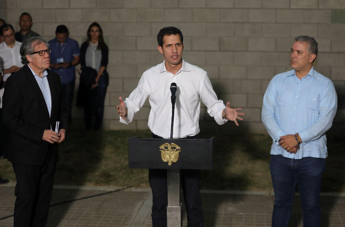 Foto: Guaidó, quien permanece en Colombia, anunció que participará el lunes en una reunión del Grupo de Lima en Bogotá, el 23 de febrero de 2019