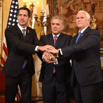 Se reúnen Pence, Duque y Guaidó en cumbre del Grupo de Lima