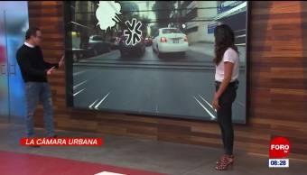 #LaCámaraUrbana en Expreso: Auto se detiene en triple fila