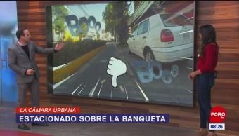 #LaCámaraUrbana en Expreso: Coche estacionado en banqueta