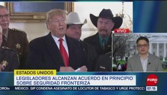 Legisladores alcanzan acuerdo sobre seguridad fronteriza