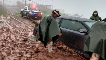 Foto: Lluvias dejan inundaciones y deslaves en Tijuana; activan el Plan DN-II