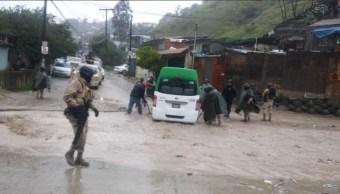 Foto: Alerta en Baja California por lluvias, 12 de febrero 2019. Twitter @Saidgol