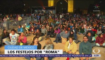 Los festejos por 'Roma' en la CDMX