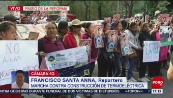 Foto: Manifestantes toman carriles centrales de Paseo de la Reforma