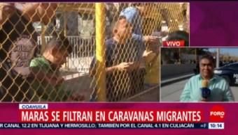 FOTO: Maras se infiltran en las caravanas migrantes que están en Coahuila, 16 febrero 2019