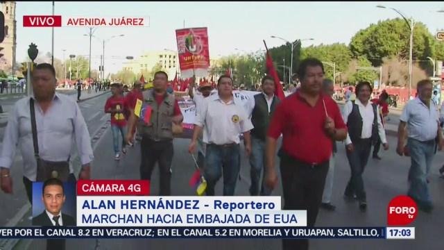 Foto: Marchan sobre Reforma rumbo a la Embajada de EEUU