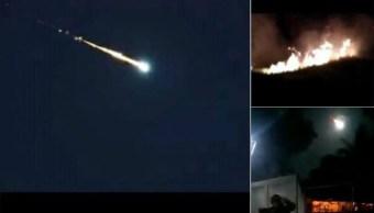 Foto:Un meteorito cayó la noche de este sábado en el norte de Venezuela, 10 febrero 2019
