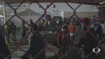 FOTO: Migrantes protestan ante lentitud en trámite de visas humanitarias, 13 FEBRERO 2019