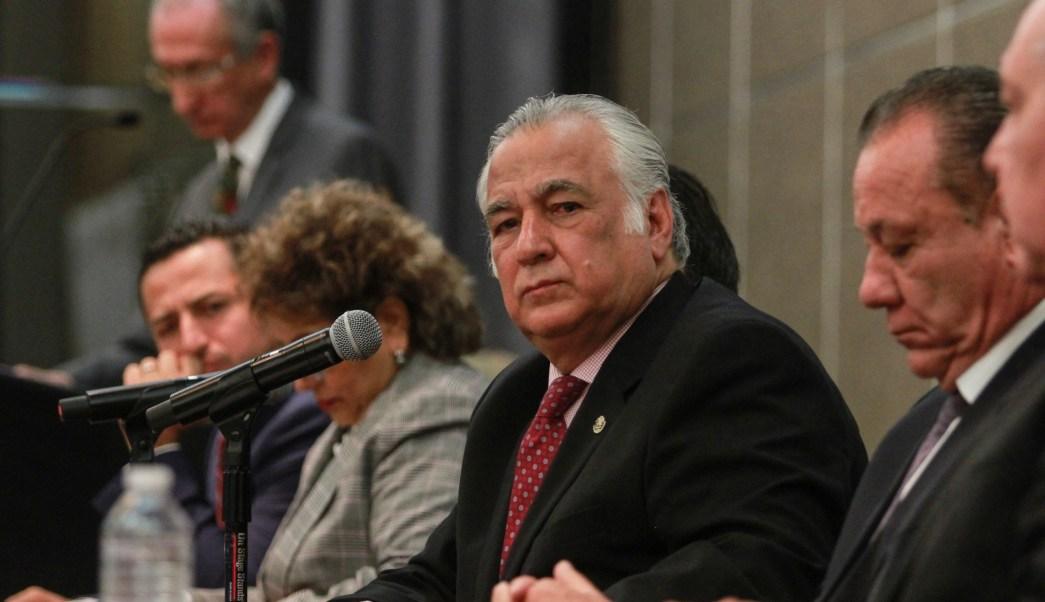 Foto: El secretario de Turismo, Miguel Torruco,encabezó una conferencia de prensa, México, 4 de febrero de 2019 (Notimex)