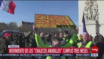 FOTO: Movimiento de 'chalecos amarillos' cumplió tres meses en Francia, 16 febrero 2019