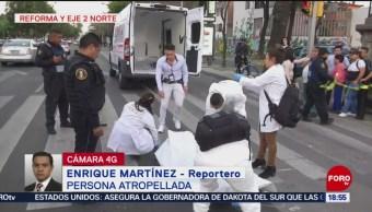 Foto: Muere hombre atropellado en Reforma