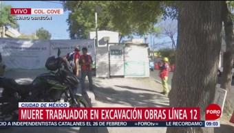 Muere trabajador en excavación de Línea 12 del Metro CDMX