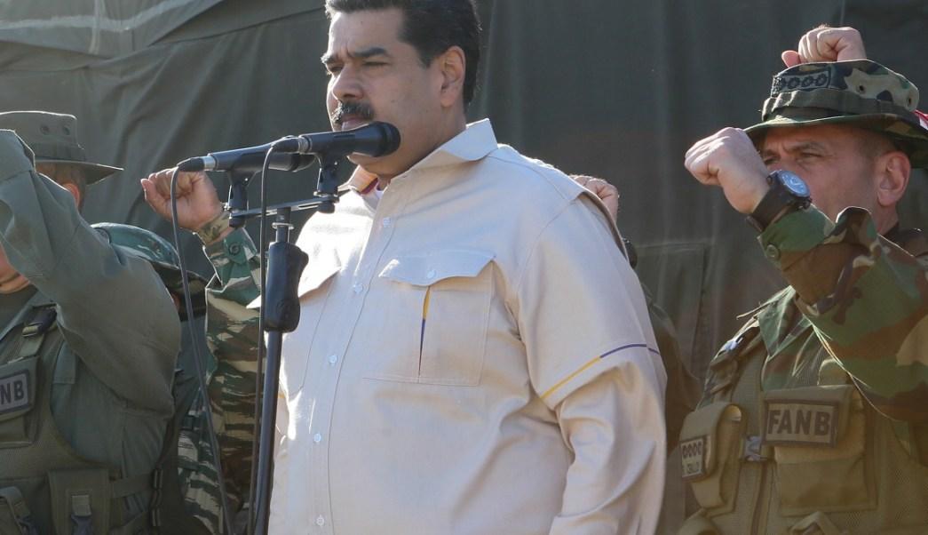 Foto: El presidente de Venezuela, Nicolás Maduro, asiste a un ejercicio militar en Charallave, Venezuela, 10 de febrero de 2019 (Reuters)