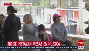 FOTO: No instalan mesa de consulta ciudadana sobre termoeléctrica en Huexca, 23 febrero 2019