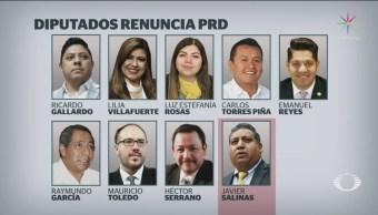 Foto: Nueve Legisladores Renuncian Bancada PRD 19 de Febrero 2019