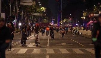 foto primer Paseo Nocturno en bicicleta de 2019