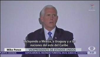 Pence pide a México reconocer a Guaidó