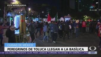 Peregrinos de Toluca llegan a la Basílica de Guadalupe