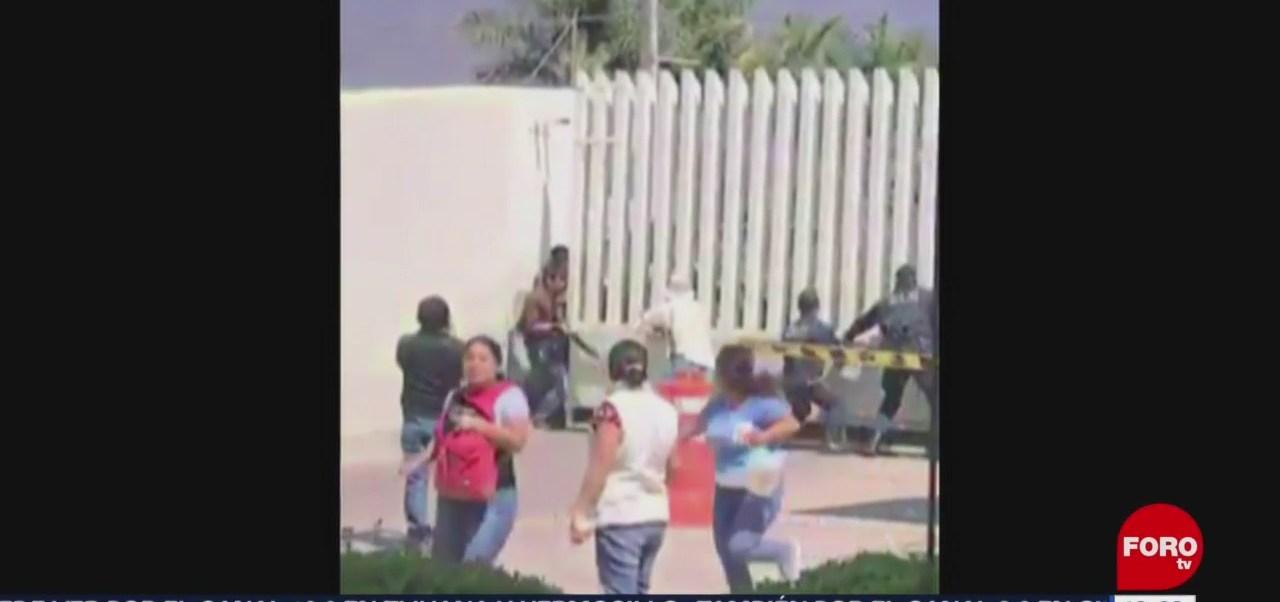 Foto: Pobladores Santiago Xanica Intentan Ingresar Machetes 13 de Febrero 2019