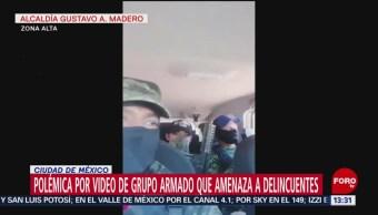 Foto: Polémica por video de grupo armado que amenaza a delincuentes en Cuautepec
