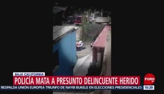 Policía remata a delincuente en Tijuana