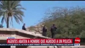 Policías abaten a hombre que se quería suicidar