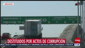 Foto: Por corrupción, despiden a empleados de aduanas