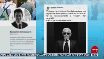 Portavoz del Gobierno francés lamenta la muerte de Karl Lagerfeld
