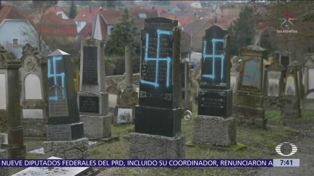 Profanan tumbas judías en Francia con esvástica nazi