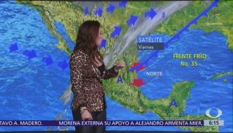 Pronostican lluvias en gran parte de México