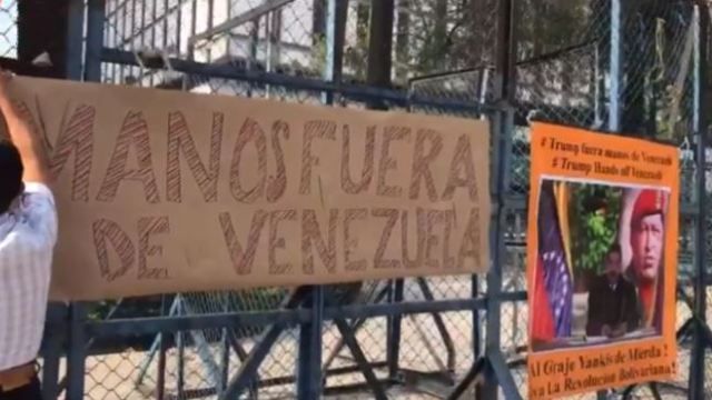 mexicanos ayunan frente embajada de eeuu por injerencia en venezuela