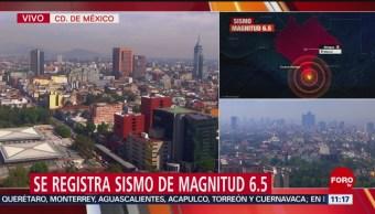 Puebla reporta saldo blanco tras sismo de magnitud 6.5