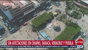 Realizan sobrevuelo en Tuxtla Gutiérrez tras sismo de magnitud 6.5