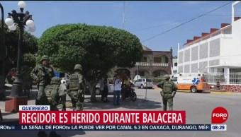 FOTO: Regidor es herido durante balacera en Guerrero, 10 febrero 2019