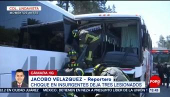 Restablecen circulación tras choque en avenida Montevideo, en CDMX
