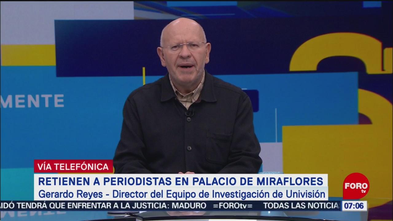 Retienen A Periodistas En Palacio De Miraflores Venezuela